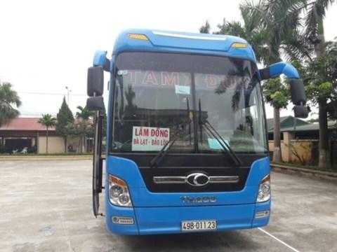 Chiếc xe 49B - 011.23 bị CSGT đưa về trụ sở CAH Phúc Thọ để xử lý