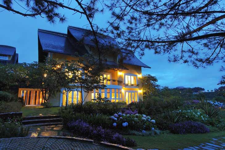 Khung cảnh bình yên ở Bình An resort tại Đà Lạt