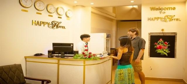 Happy Day Hotel có tổng cộng 19 căn phòng ấm cúng với sức chứa 45 khách.