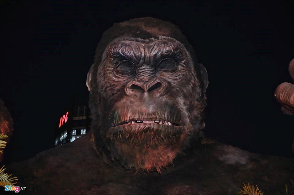 Sự hung dữ của Kong được nghệ sĩ người Việt khắc họa tinh tế như thật.