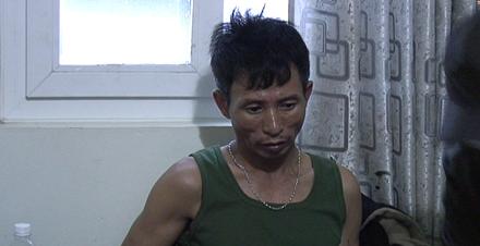 Đối tượng Nguyễn Thế Ngọc tại cơ quan điều tra. Ảnh CTV