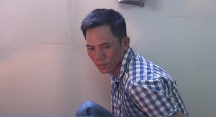 Đối tượng Phan Văn Giang tại cơ quan điều tra. Ảnh CTV